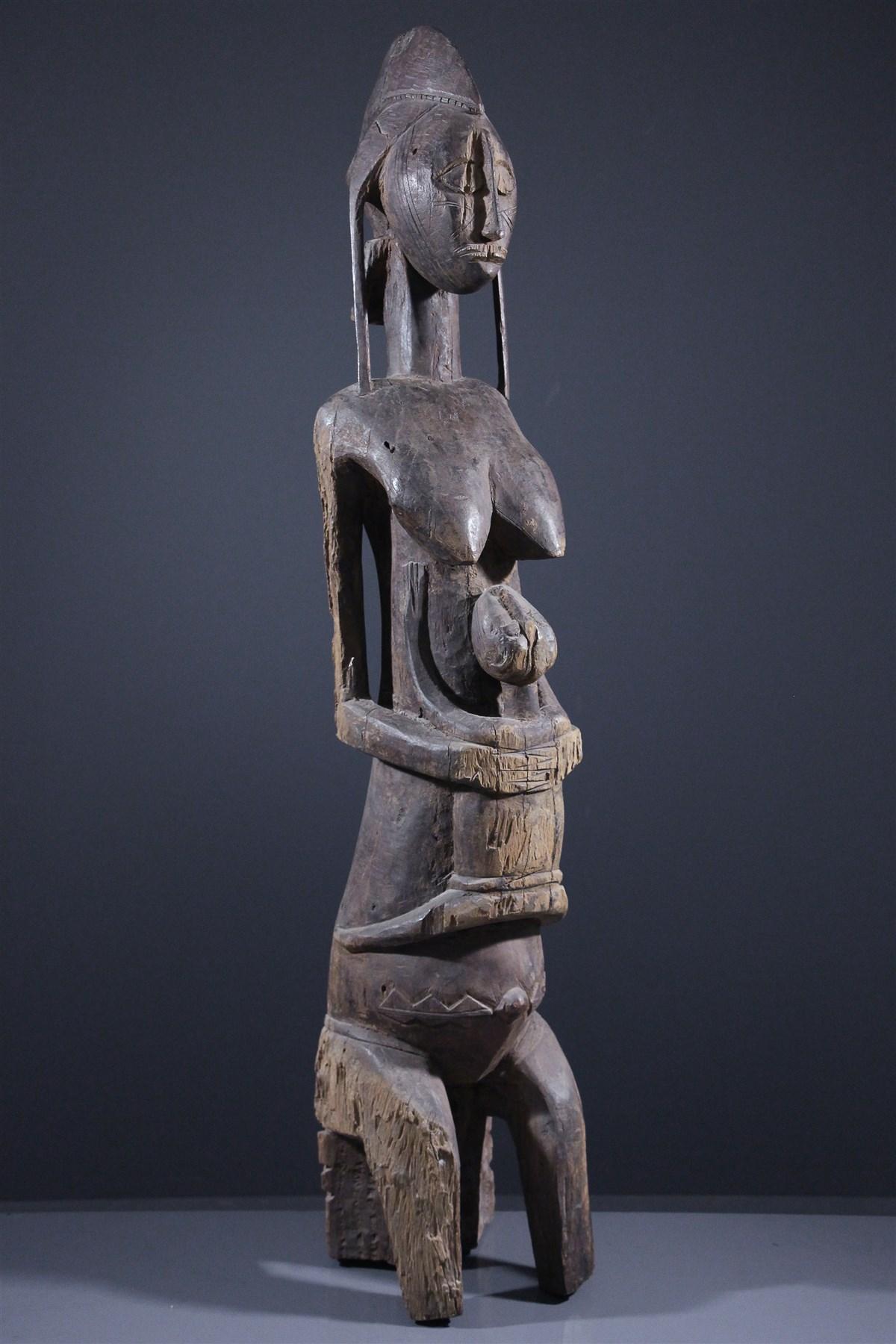 Reine Bambara et son enfant - Art africain