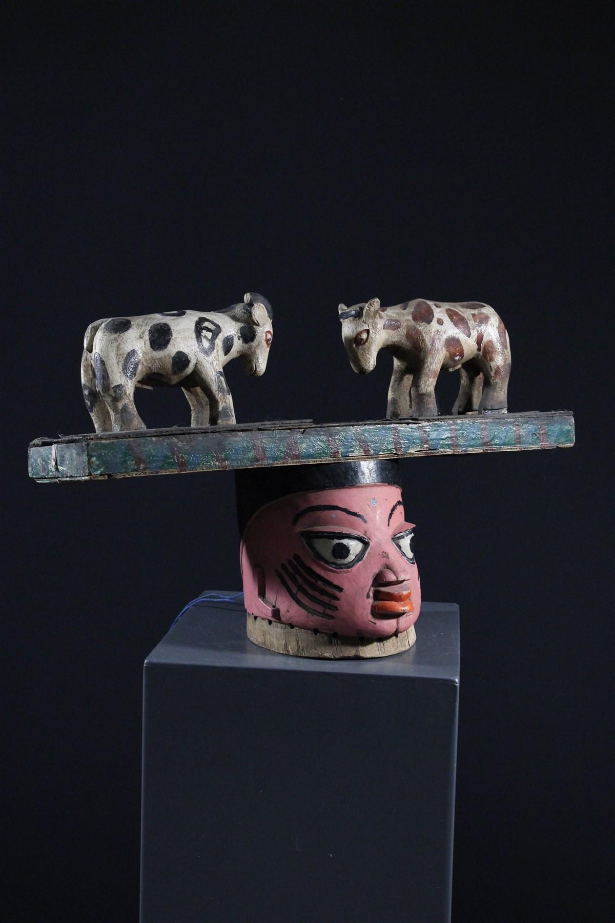 Masque heaume Gelede - Art africain