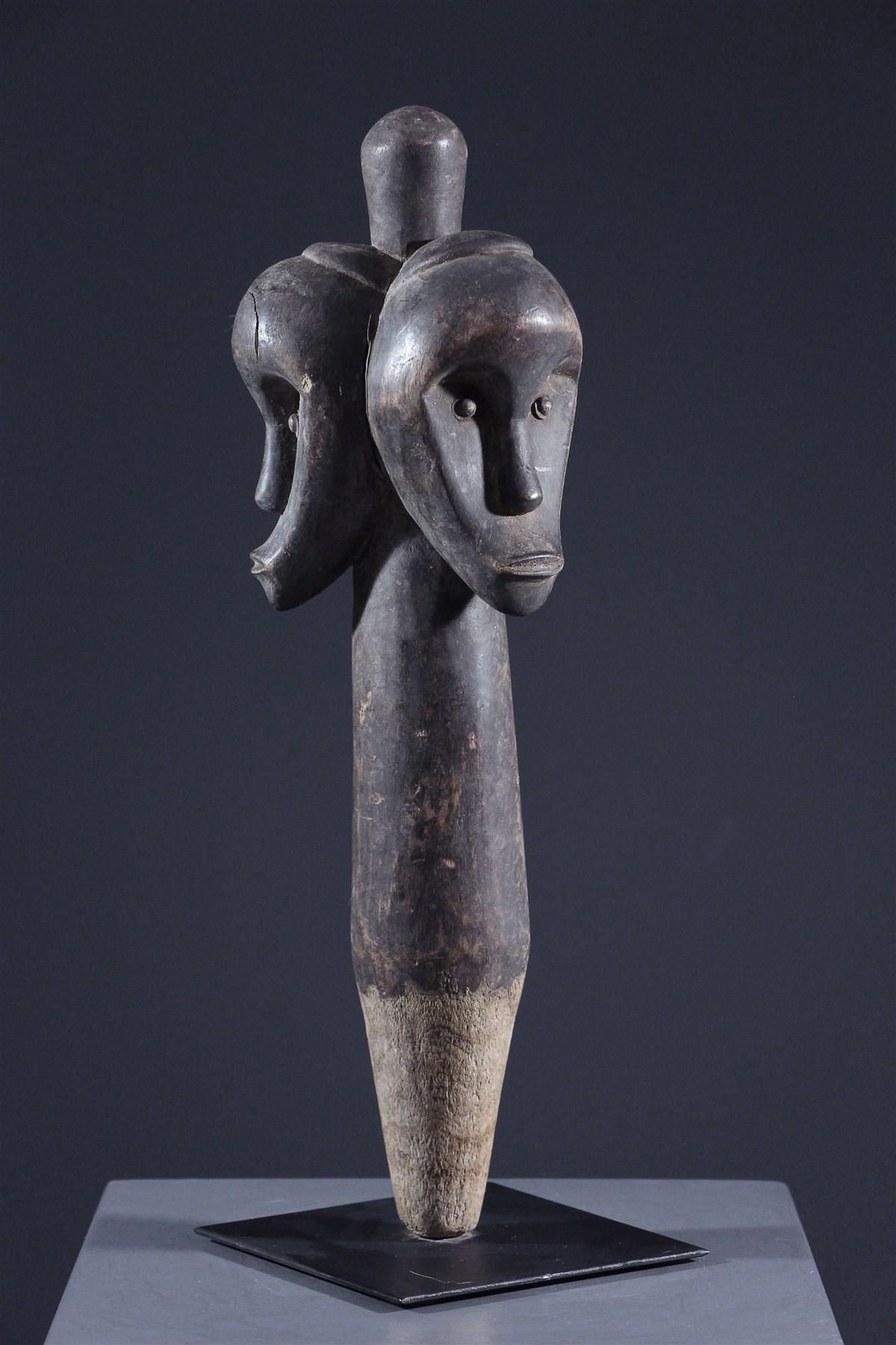 Tête de reliquaire du Byeri - art primitif