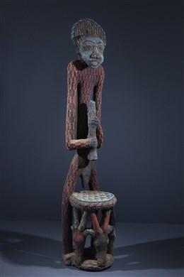 Statue-trône perlée Afo -a- Kom