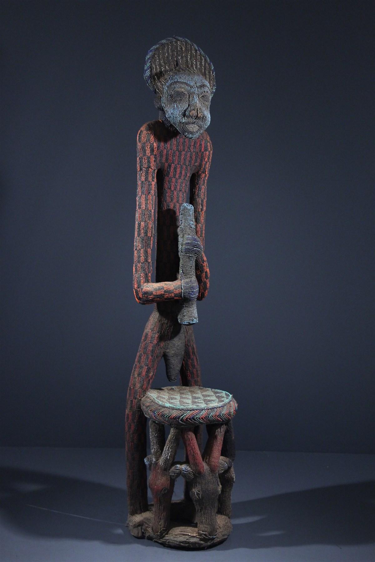 Statue-trône perlée Afo -a- Kom  - art africain