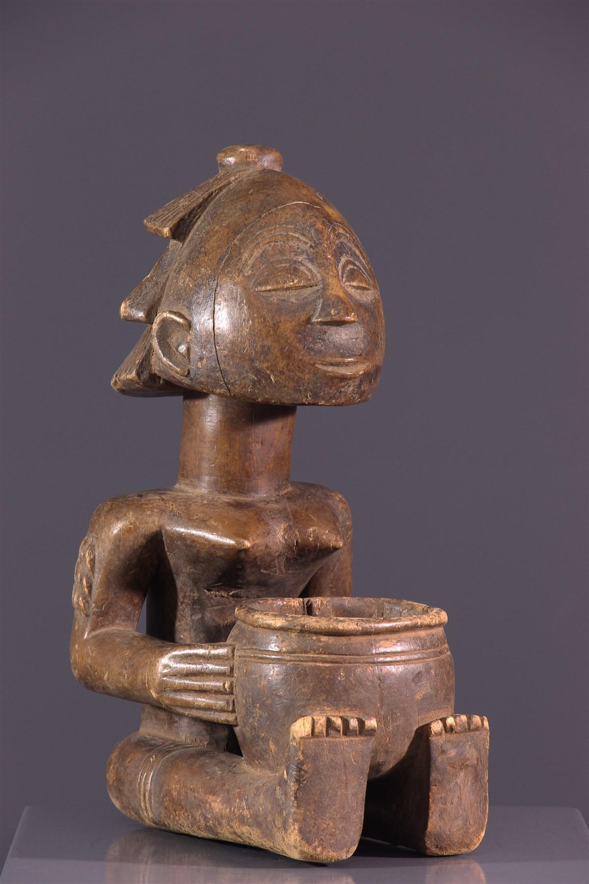 Porteuse de coupe Luba - art africain