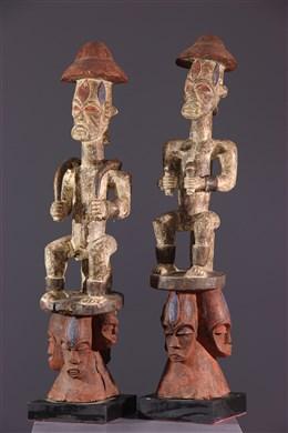 Couple de divinités Igbo