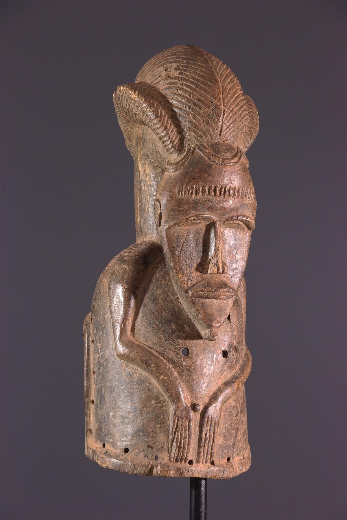 Masque Baoulé heaume - art africain