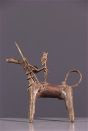 CavalierCavalier Dogon en bronze