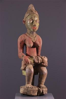 Art africain - Maternité polychrome Yoruba