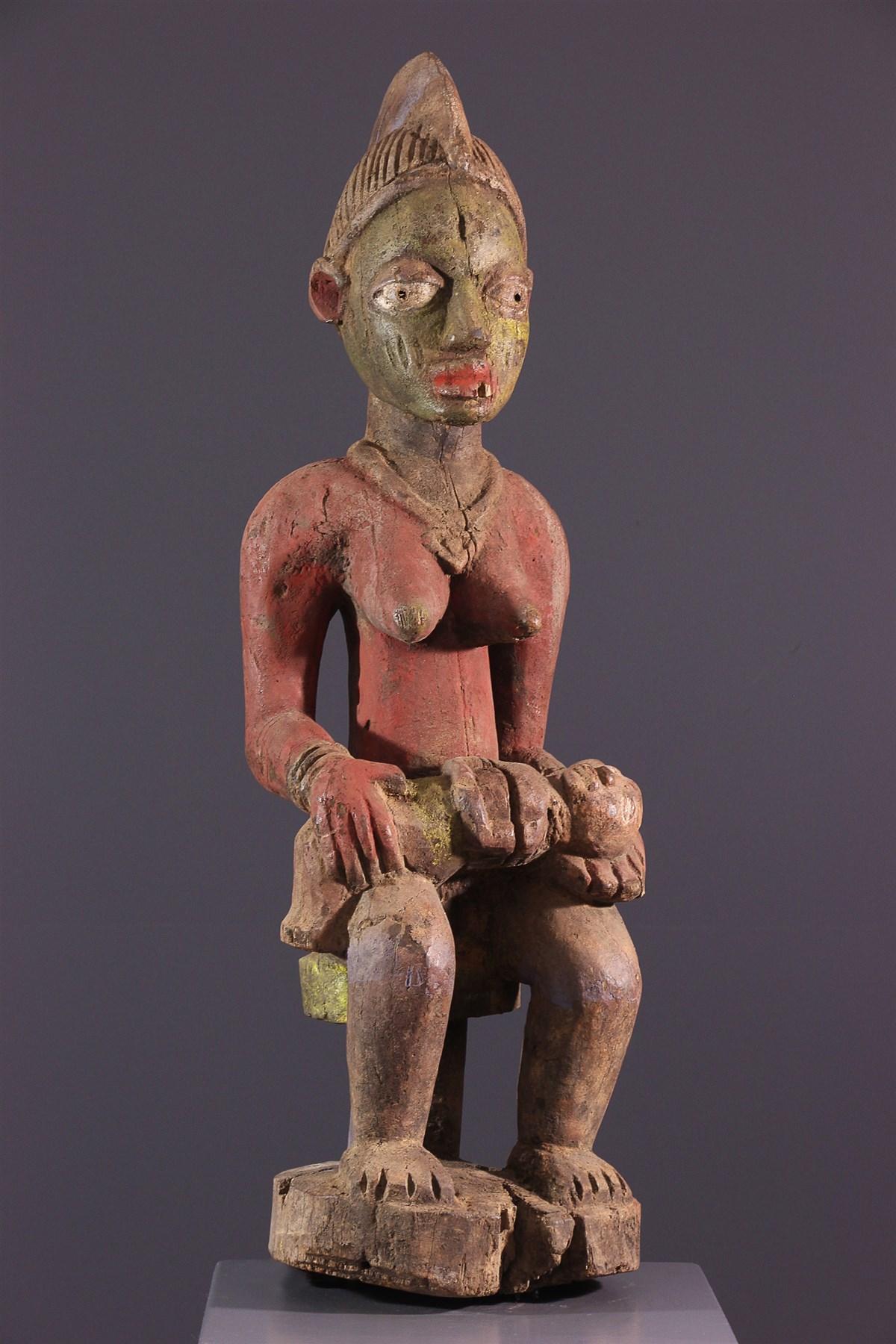 Maternité polychrome Yoruba - art primitif