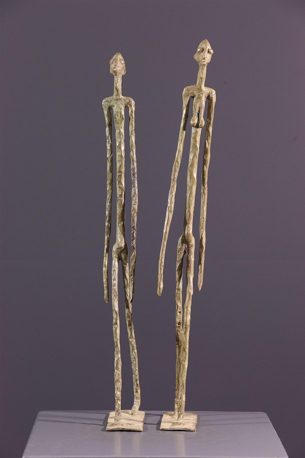 Couple primordial Dogon - art primitif