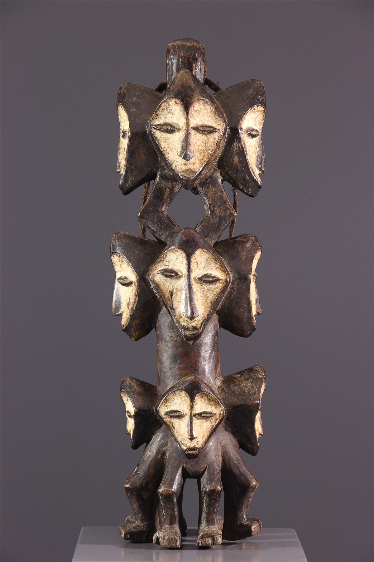 Statue multicéphale Lega - art primitif