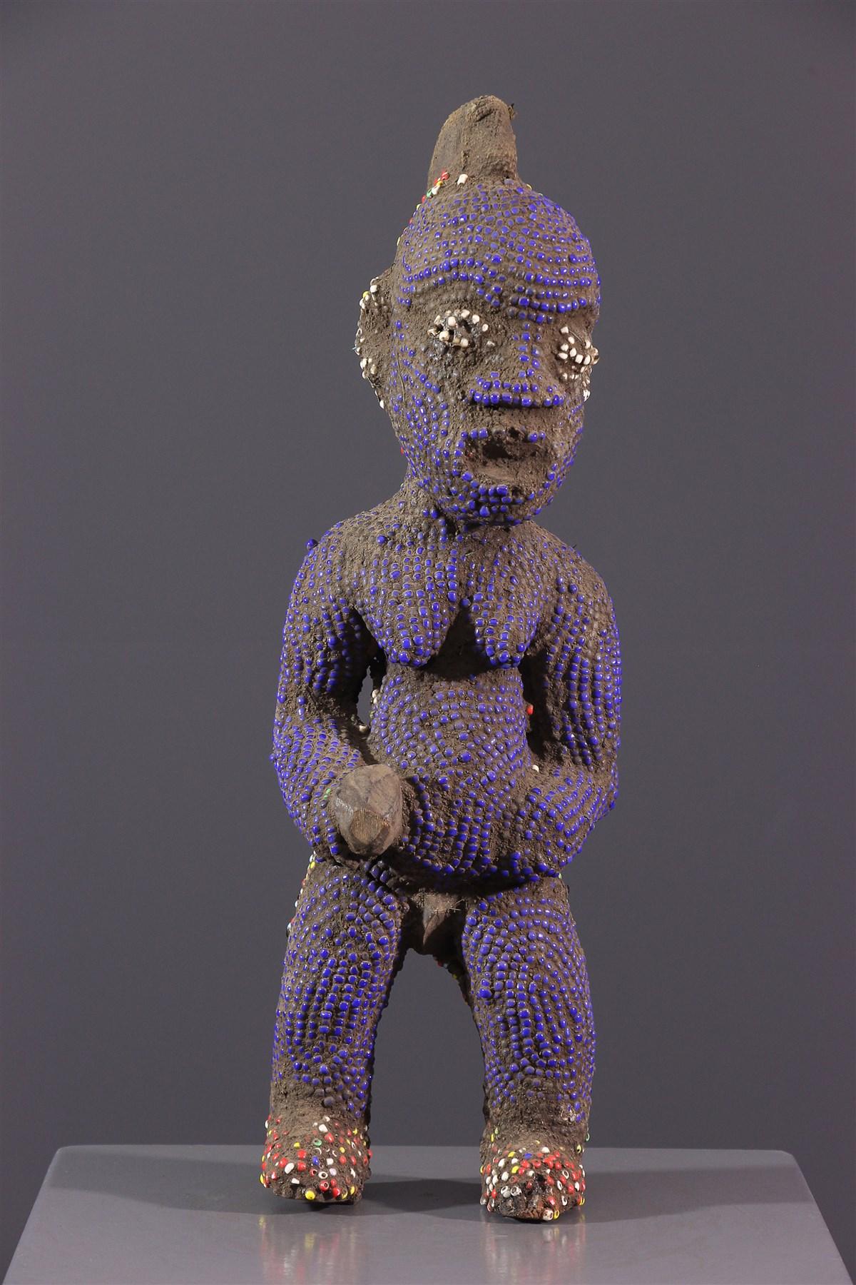 Statue perlée Bamileke - Art africain