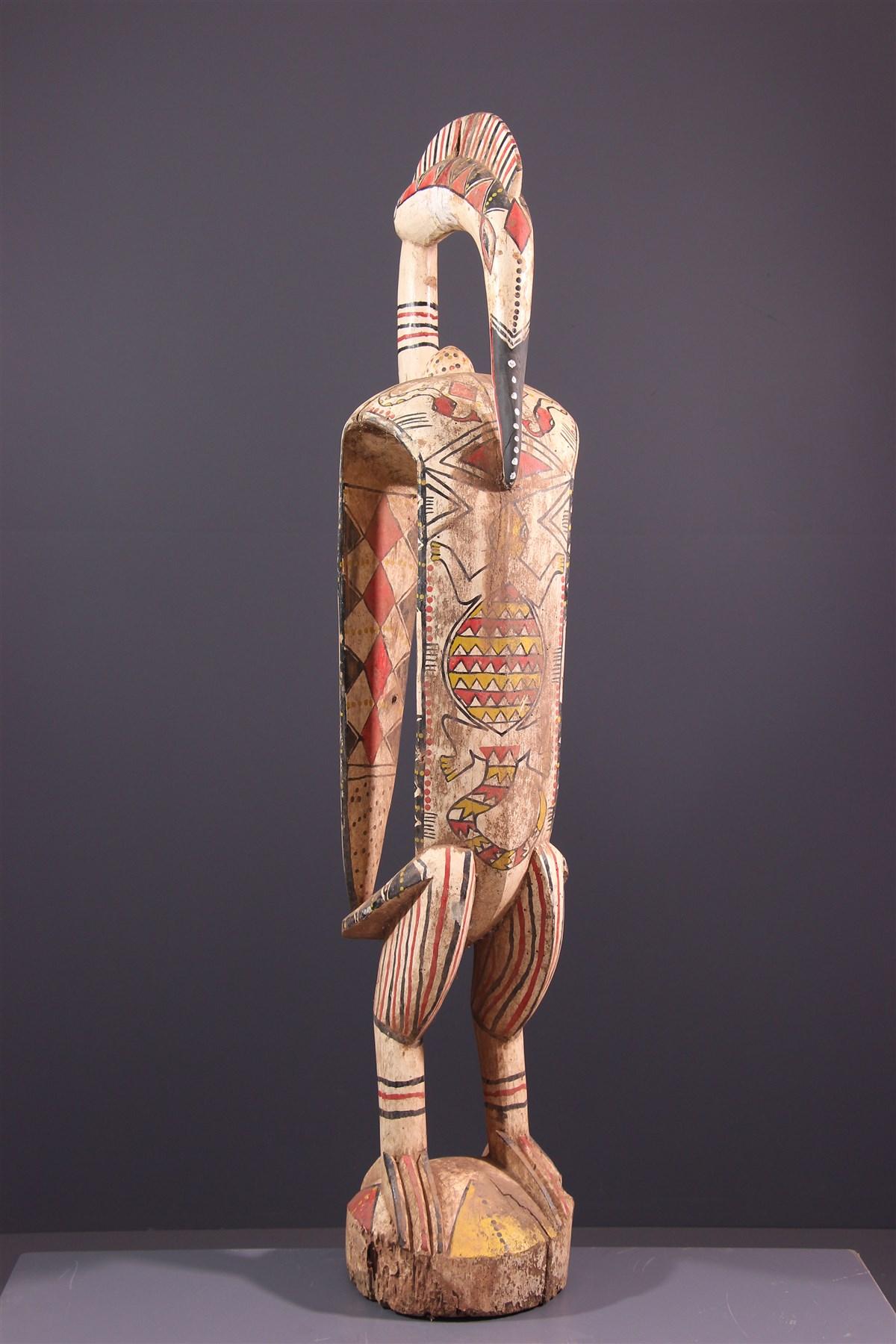 Calao  polychrome Senoufo - Art africain