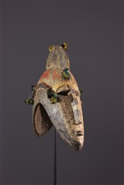 Masque africainMasque casque janiforme Markha
