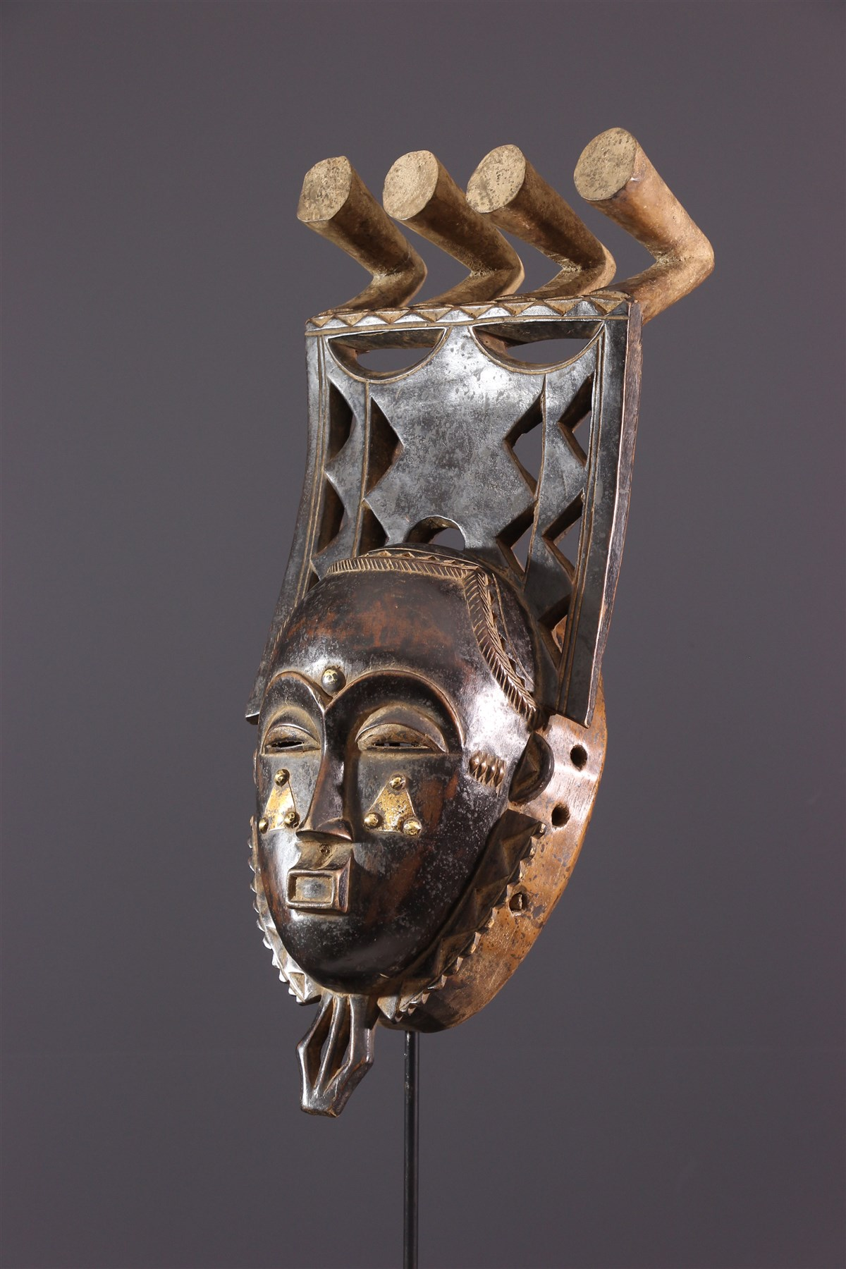 Masque Yohouré Kokolé Kwain - art primitif