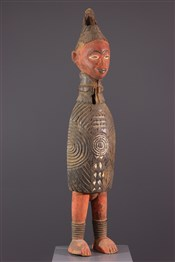 Statues africainesReliquaire polychrome Kouyou