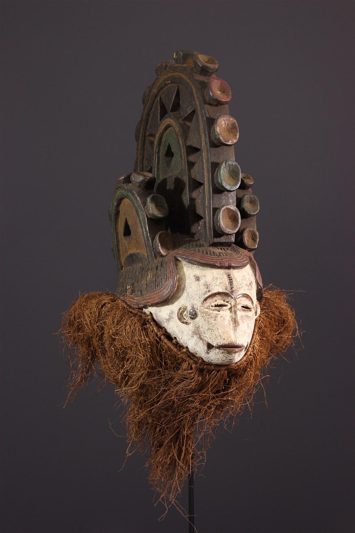 Masque Igbo polychrome - art africain