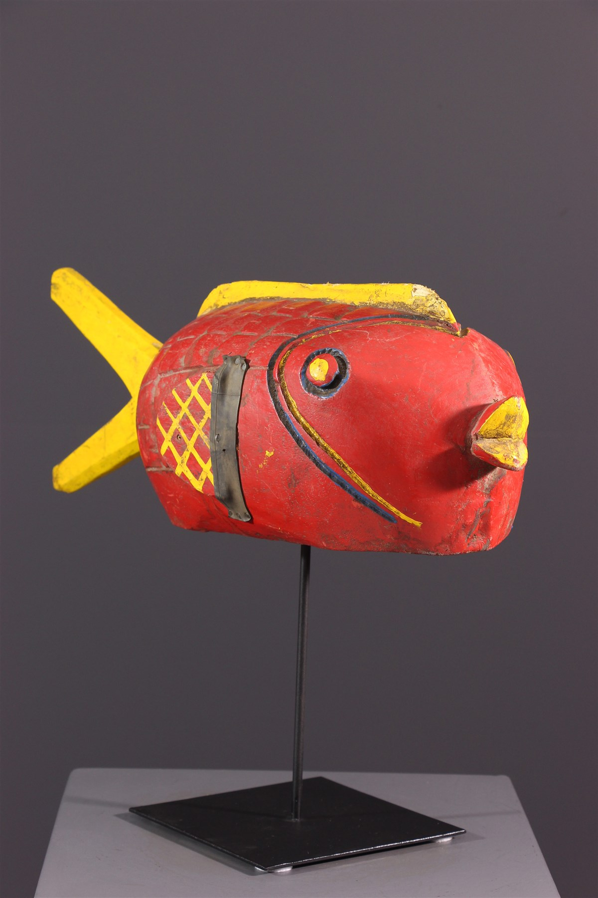 Marionnette poisson Bozo - art primitif