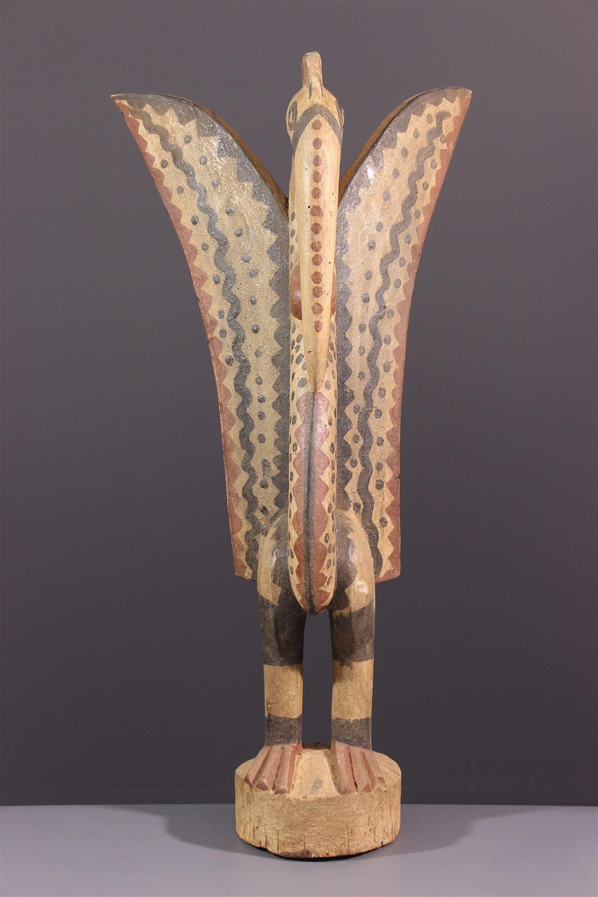 Statue Setien Calao Senoufo - art africain