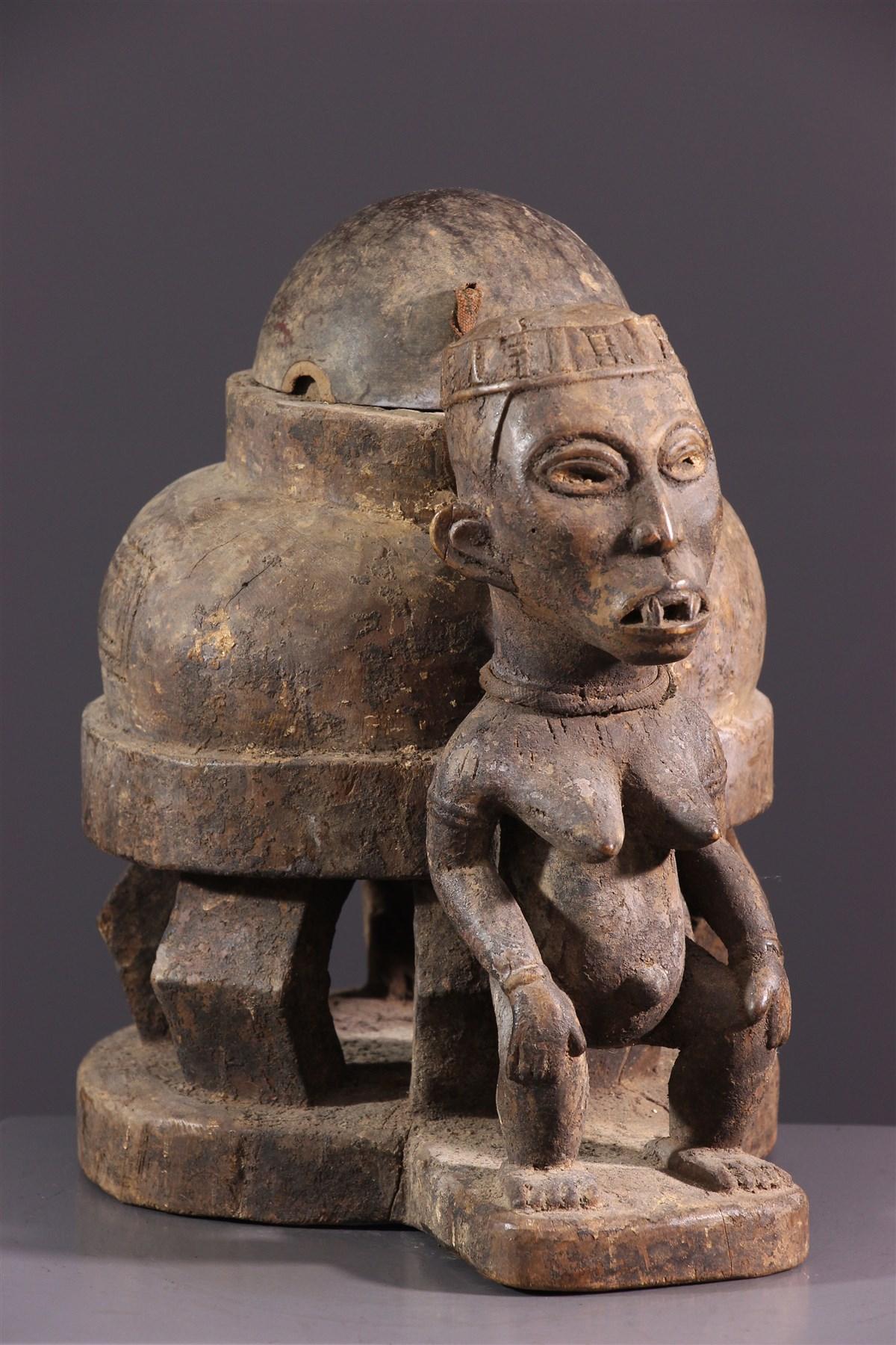 Boite à oracle Kongo Yombé - art africain