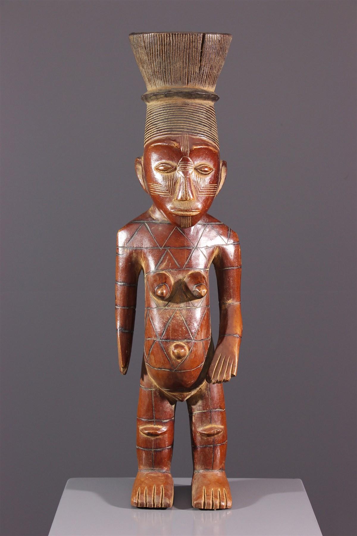 Figure féminine Mangbetu - art africain