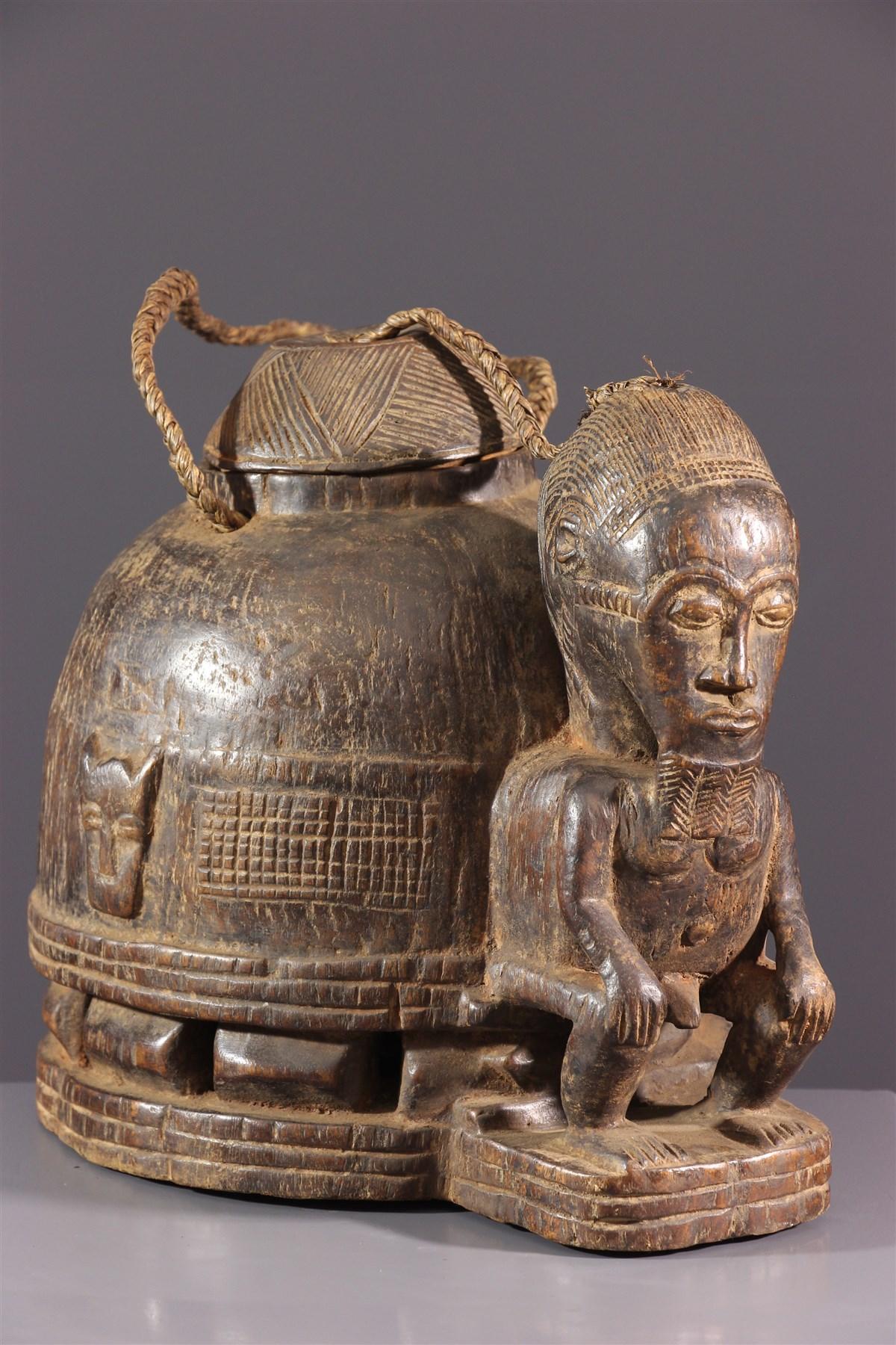 Boîte à oracle à souris Gbékré sé Baoulé - Art africain