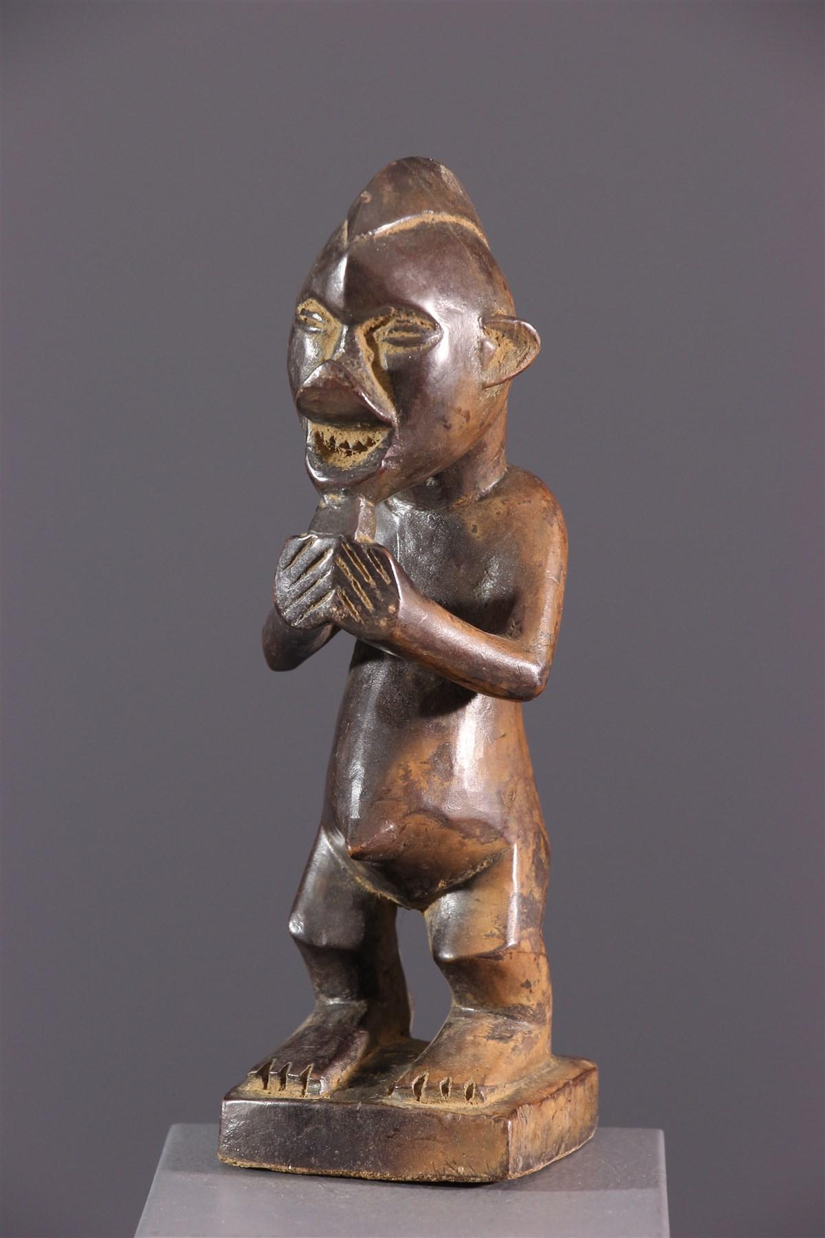 Statuette cultuelle Yiteke Yaka - Art africain