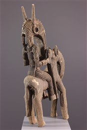 Statues africainesCavalier Markha