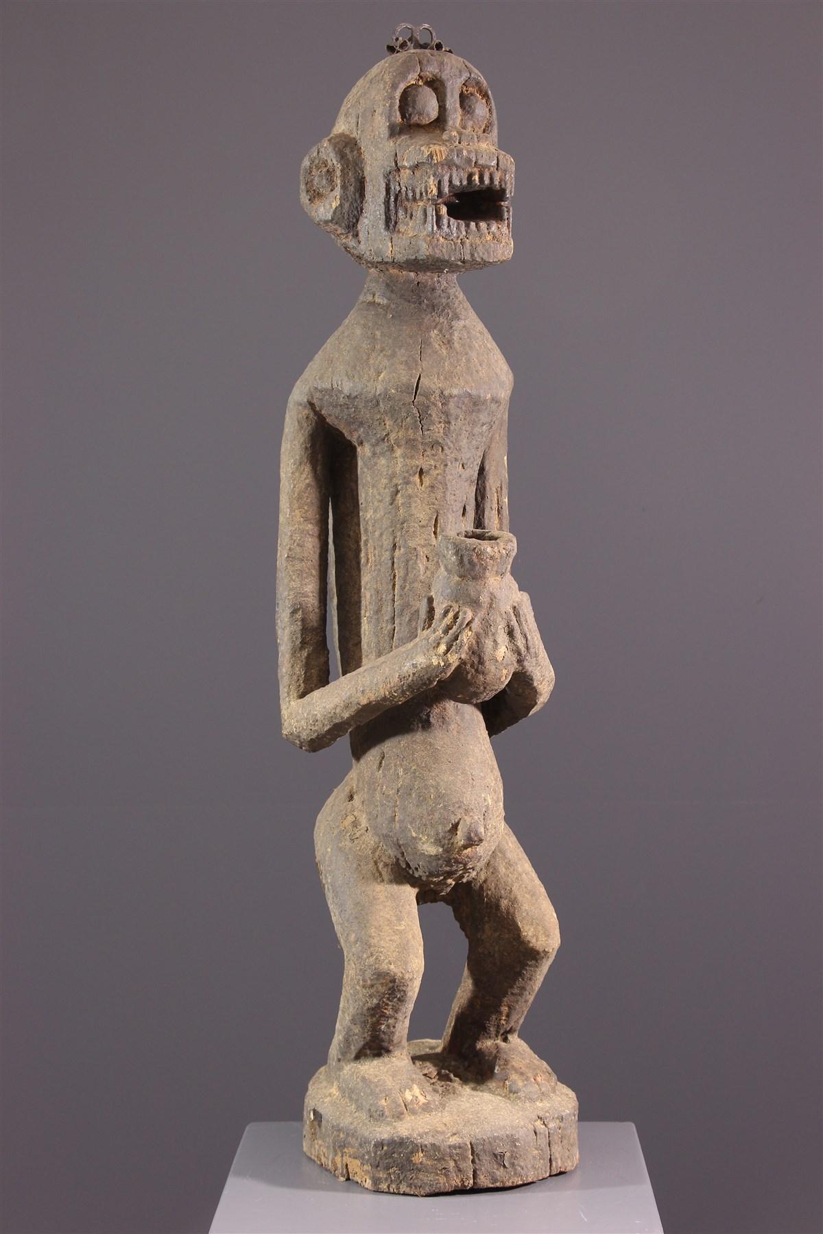 Statue Baoulé cynocéphale Mbotumbo - art africain