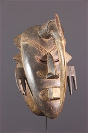 Masque africainMasque Ligbi, Djimini, polychrome