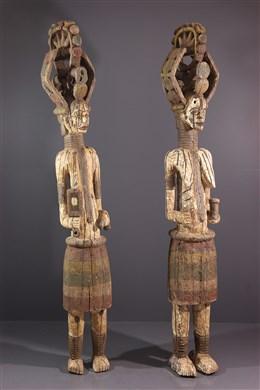 Couple de figures de divinité  Alusi Igbo