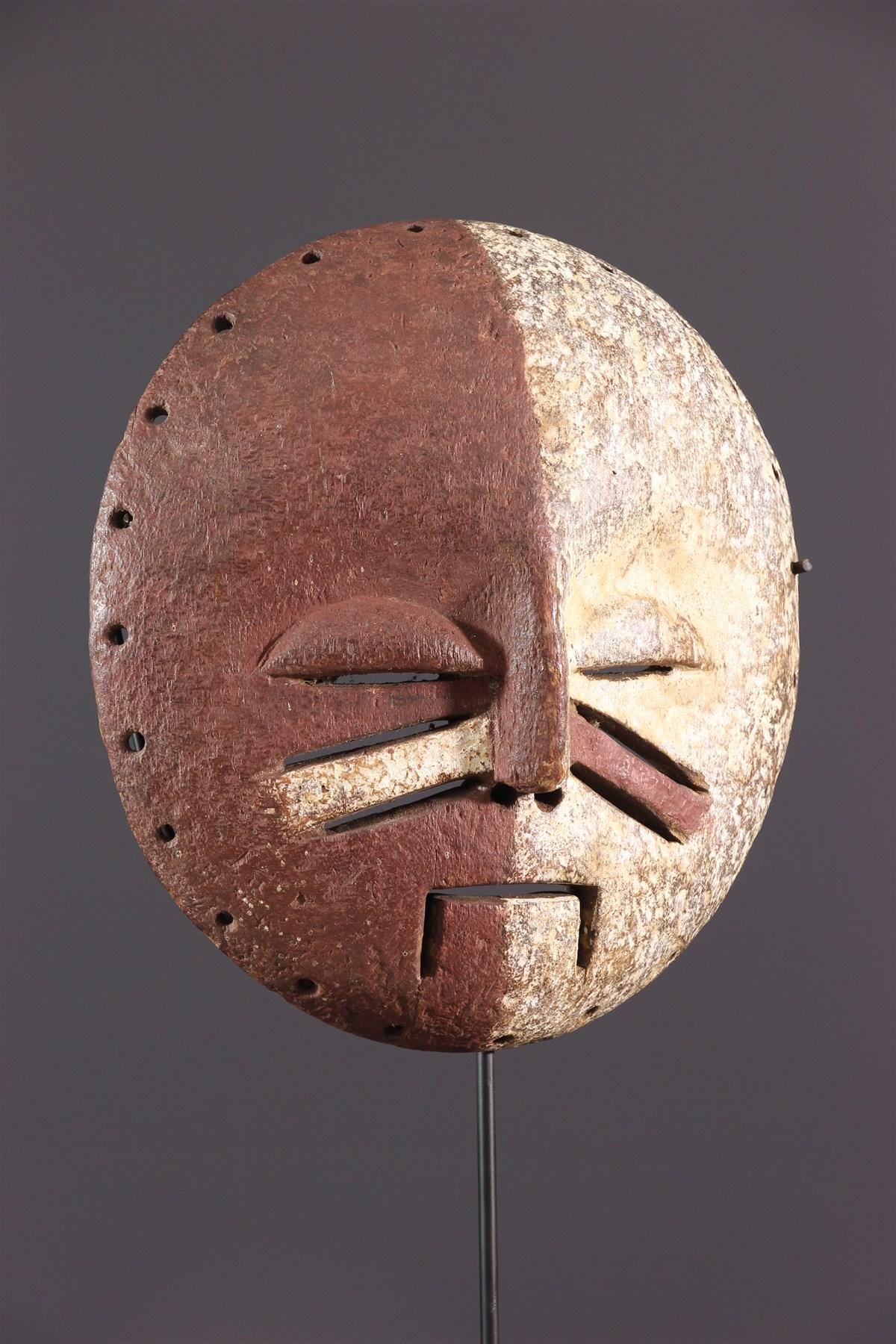 Masque bicolore Yela - art primitif