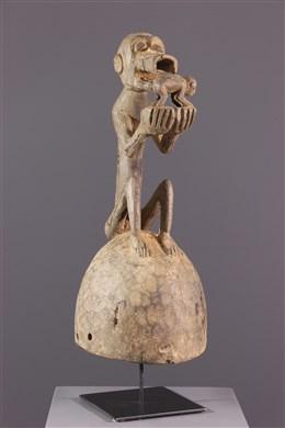 Masque Baoulé casque