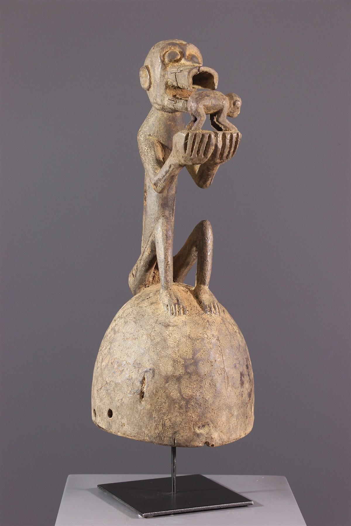 Masque Baoulé casque - Art africain