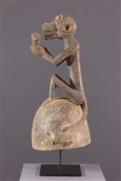 Masque africainMasque Baoulé casque