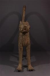 bronze africainCouple de grands léopards Benin Bini Edo