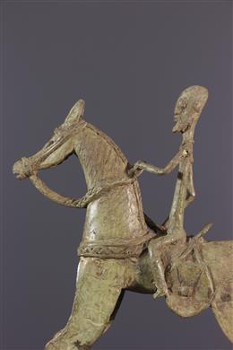 Cavalier Dogon en bronze