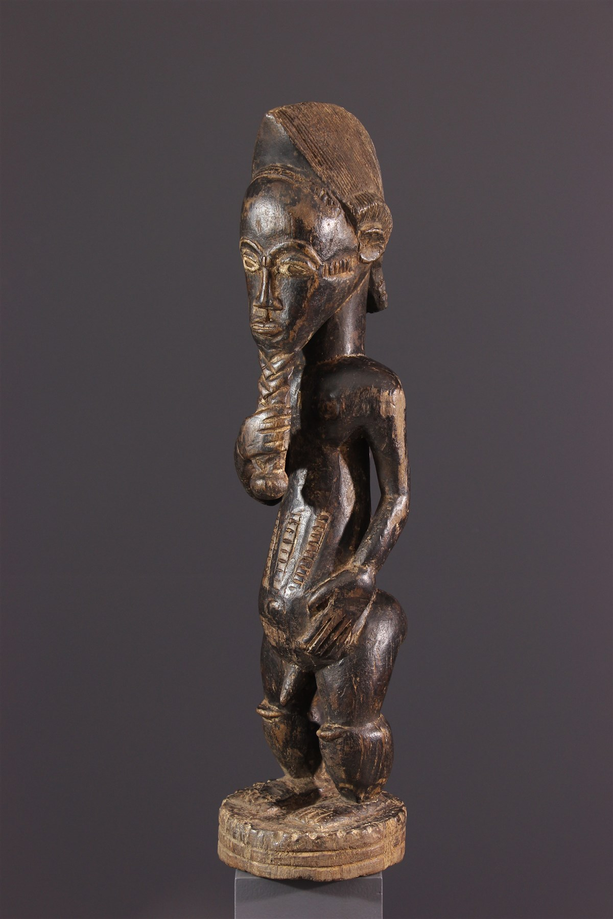 Statue Baoule Asie Usu - Art africain