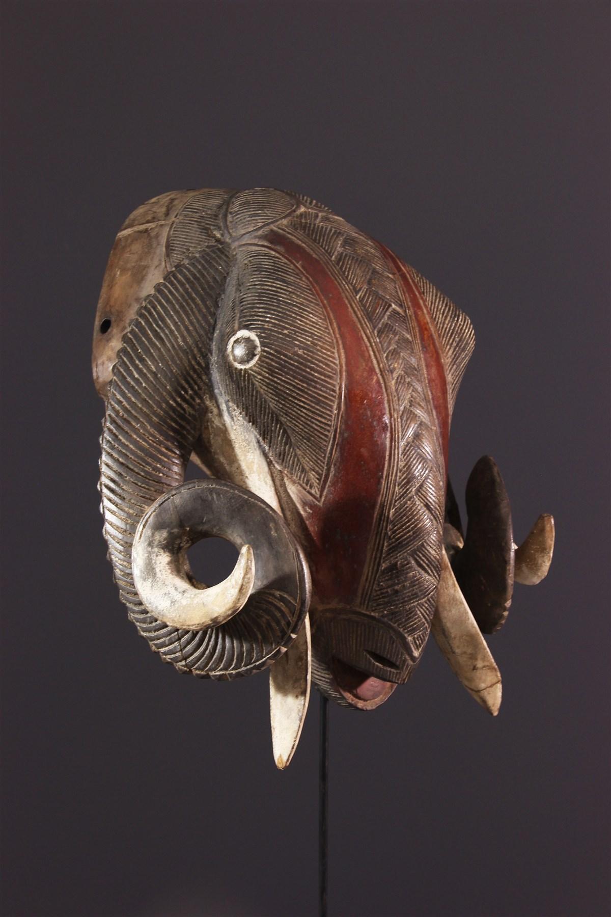 Masque bélier Baoulé, Baulé - Art africain