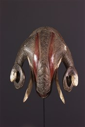 Masque africainMasque bélier Baoulé, Baulé