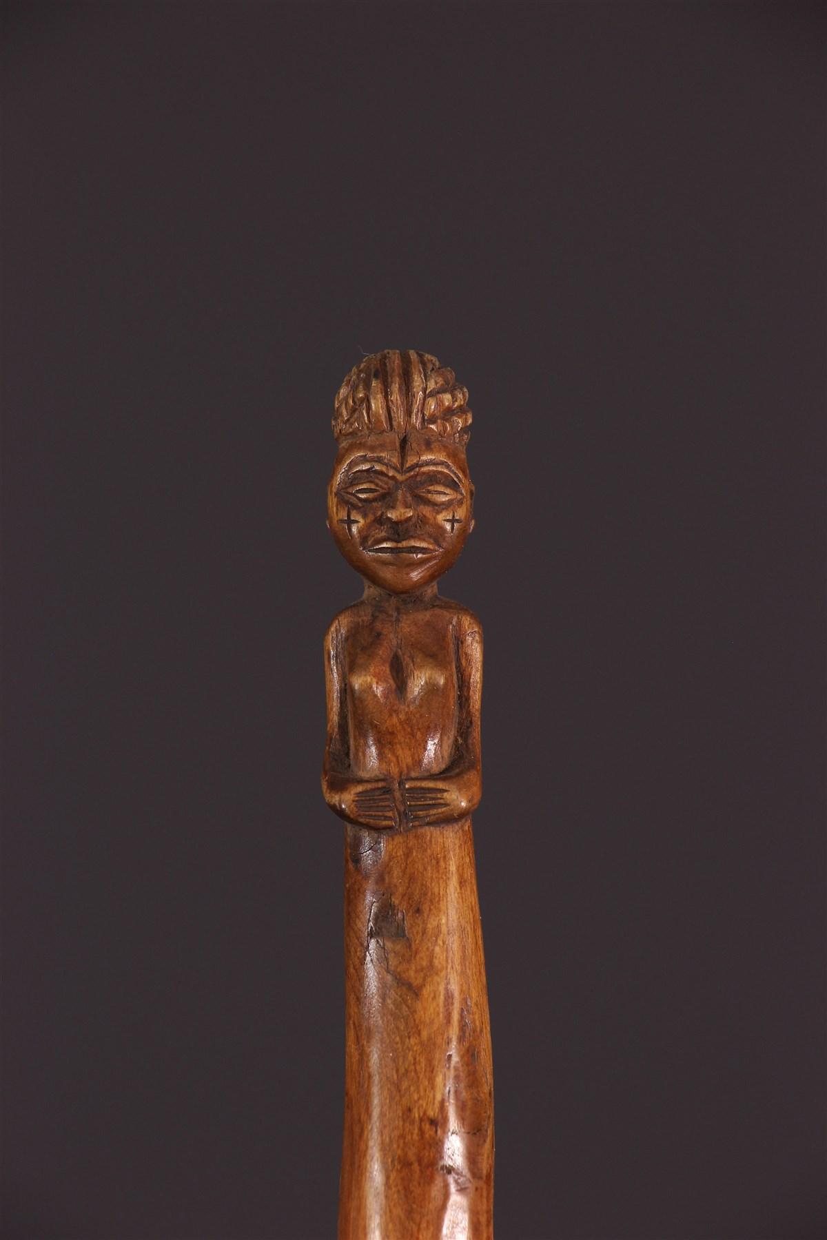 Bâton sculpté Chokwe - Art africain