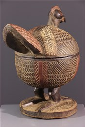 Pots, jarres, callebasses, urnesCoupe à offrandes zoomorphe Yoruba