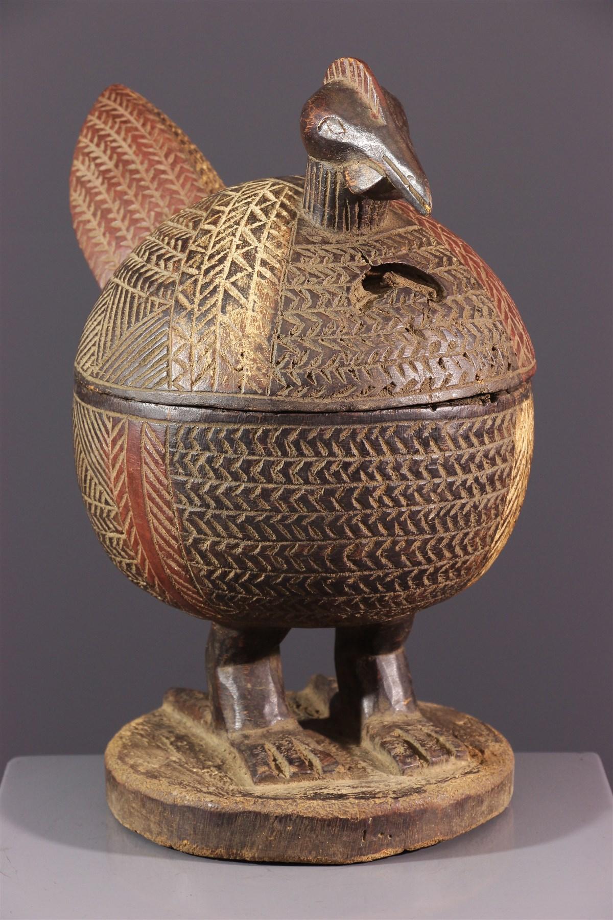 Coupe à offrandes zoomorphe Yoruba - Art africain