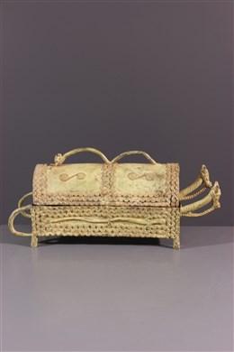 Boîte à remèdes dogon en bronze