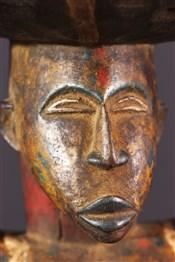 Tabourets, chaises, trônesSiège caryatidique Yoruba