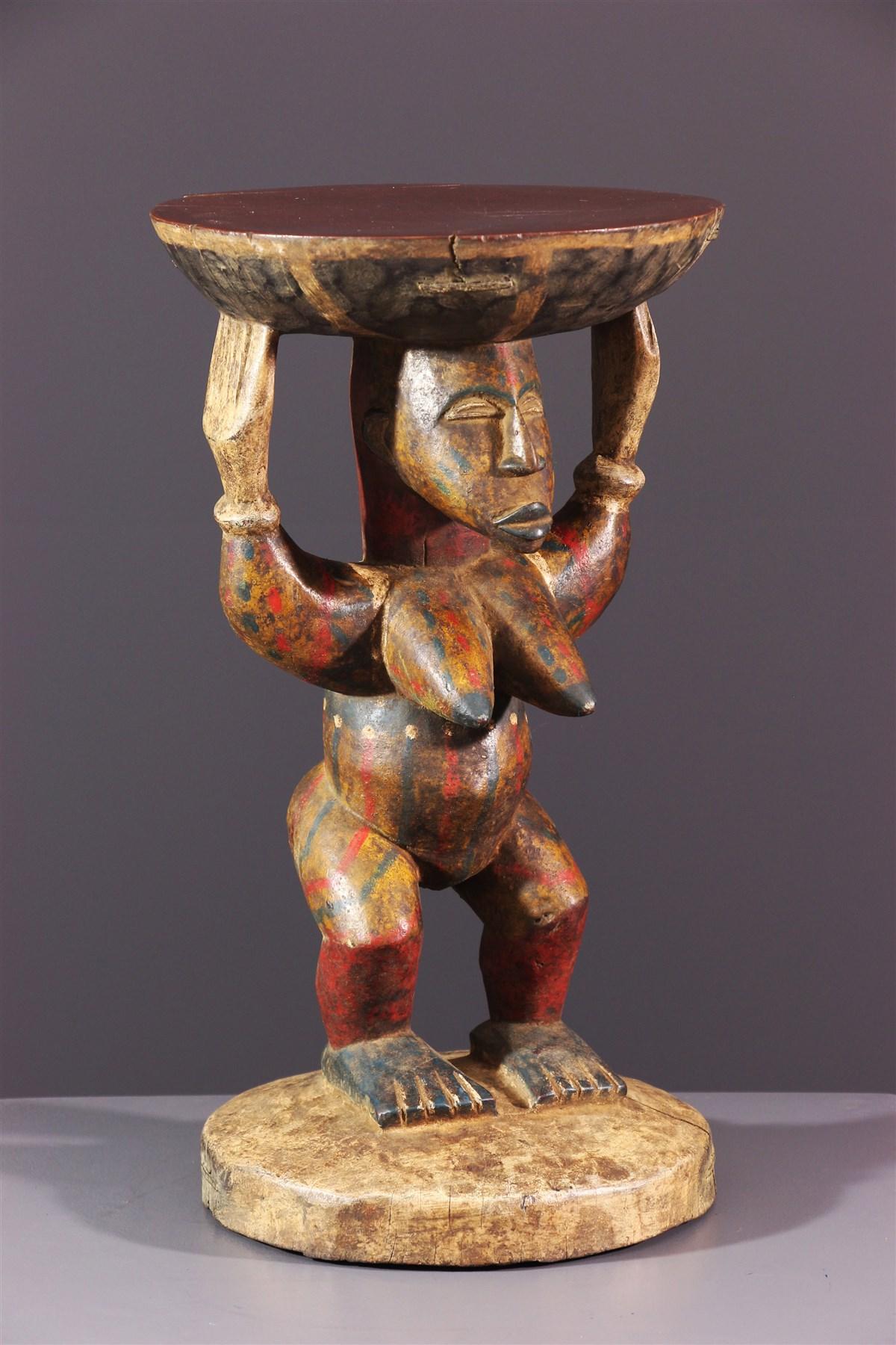 Siège caryatidique Yoruba - Art africain