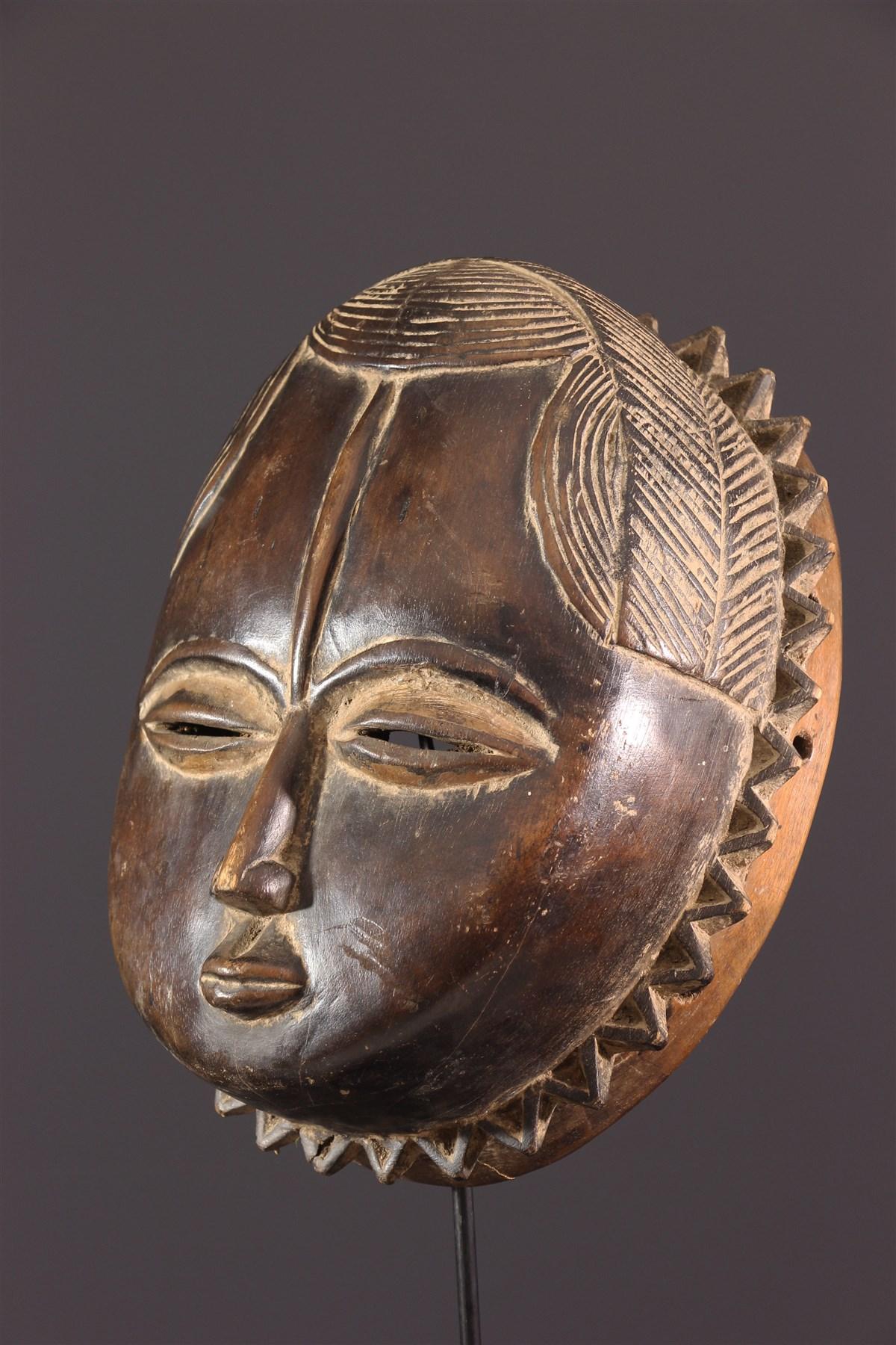 Masque Baoule Lune - art primitif