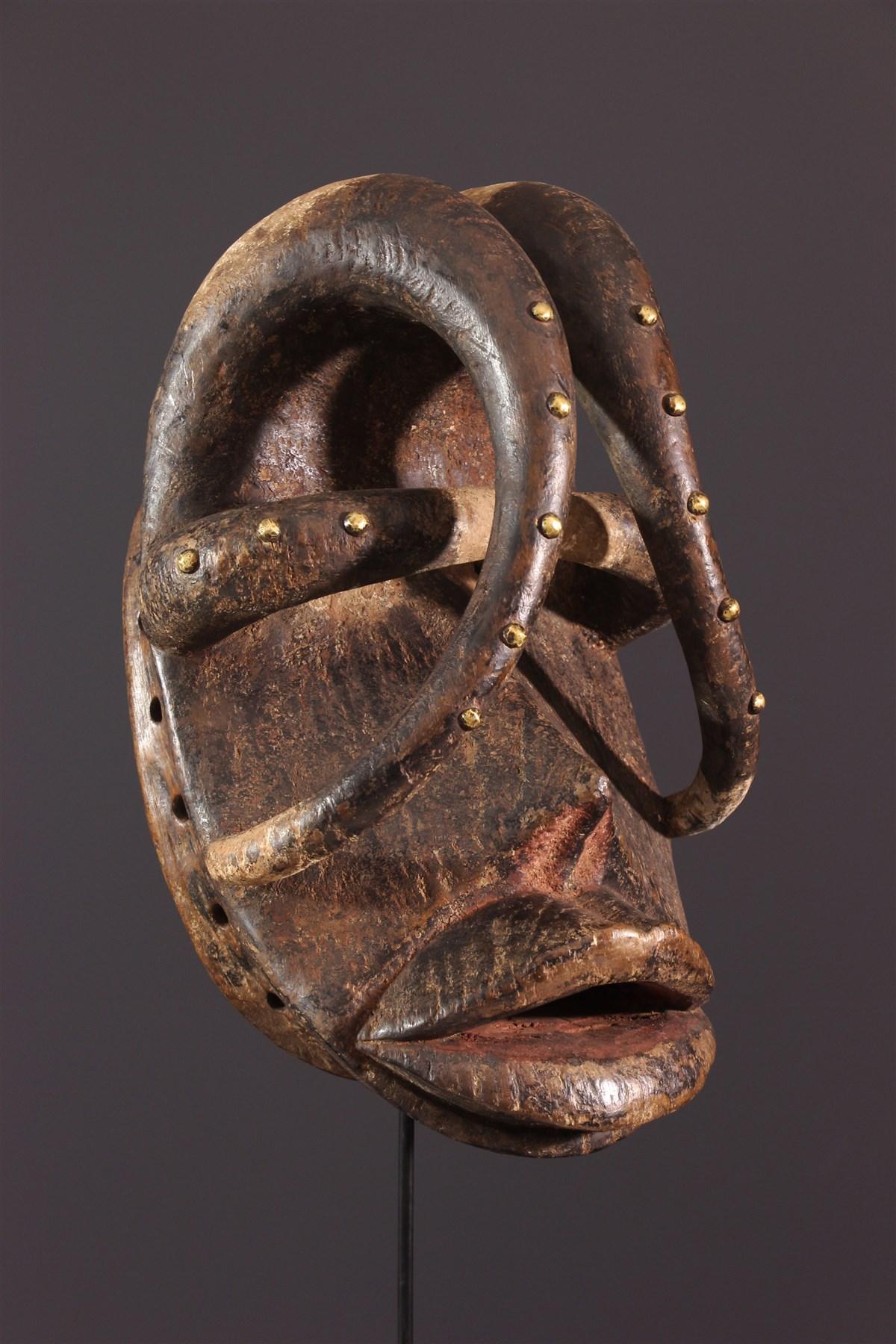 Masque de danse guerrière Glé Bété - Art africain