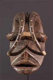 Masque africainMasque de danse guerrière Glé Bété