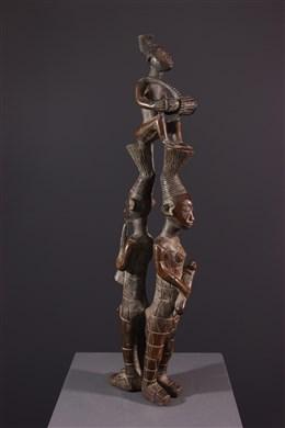 Trio de musiciens Mangbetu