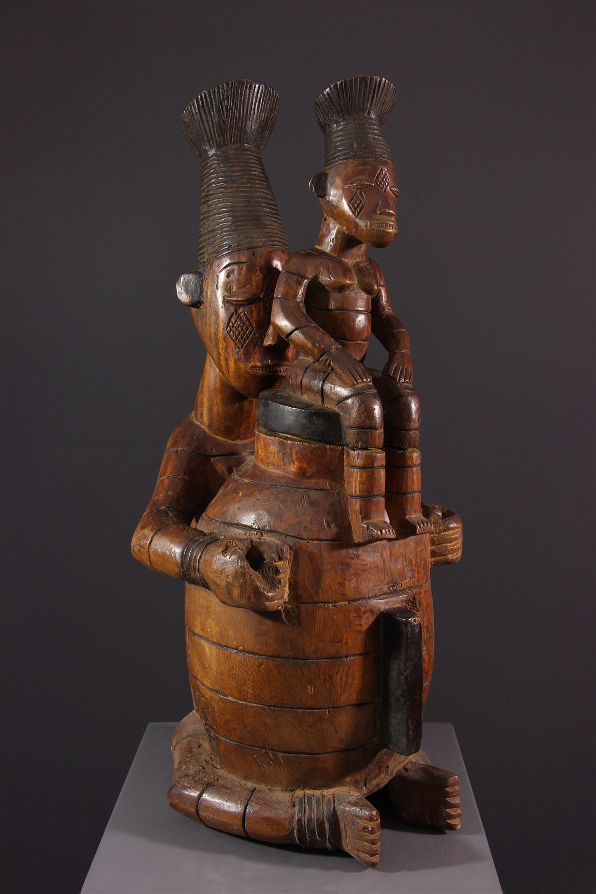 Boîte à onguents Mangbetu - Art africain