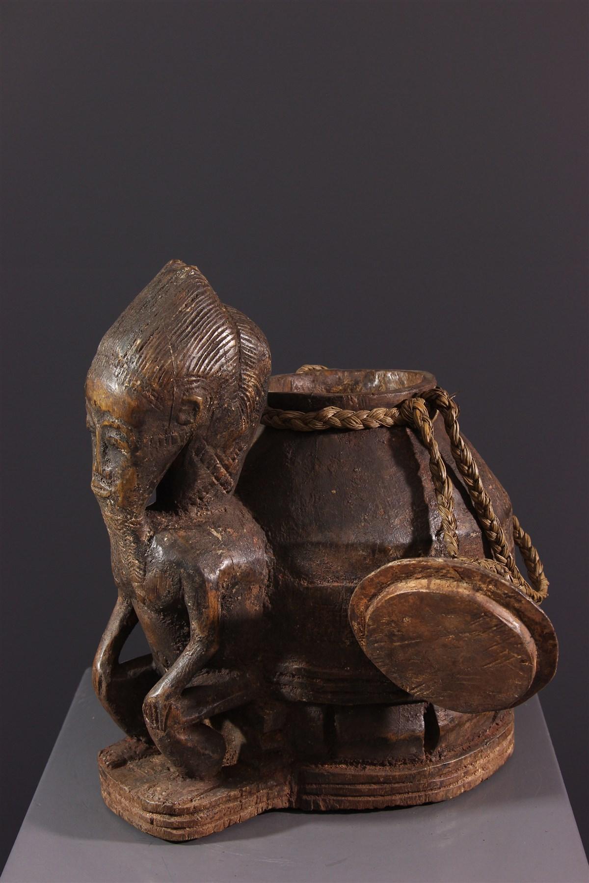 Boîte à oracles à souris Gbékré sé Baoulé - Art africain